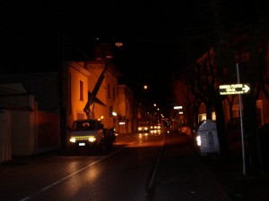 08 - Lonato rifacimento viale centrale in notturna