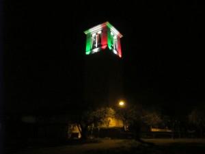 24 - Torre campanaria Muscoline di notte